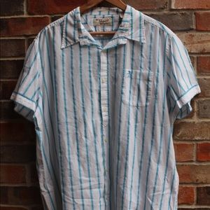 🐧Men's Original Penguin Blue Striped Shirt